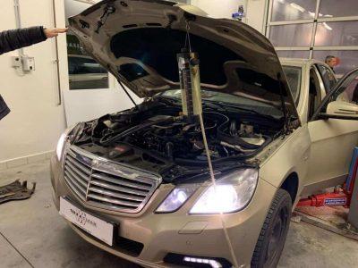Mercedes E220 részecskeszűrő tisztítás