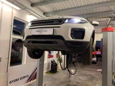 Range Rover részecskeszűrő tisztítás