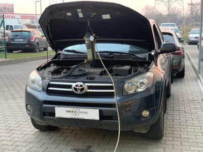 Toyota RAV4 részecskeszűrő tisztítás